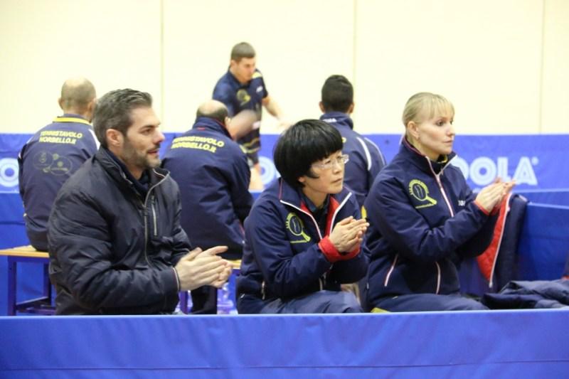 Il presidente Carrucciu con Wei Jian e B