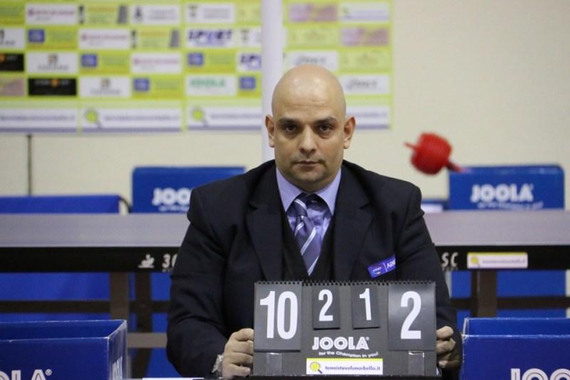 L'arbitro Nicola Mazzuzzi (Foto Gianluca Piu)