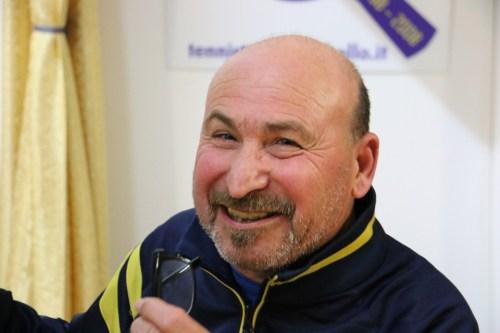 Il tecnico del Tennistavolo Norbello Tore Scotto (Foto Gianluca Piu)