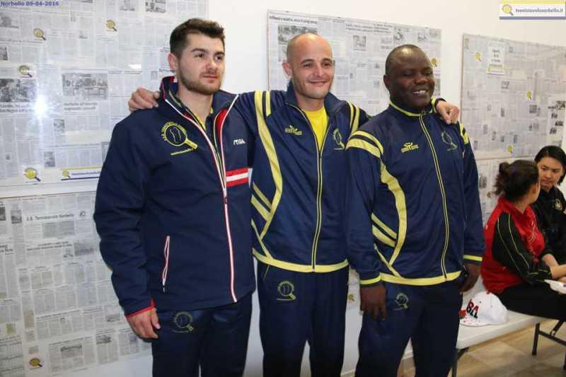 da sx Mocci, Concas e Kayode (Foto Gianluca Piu)