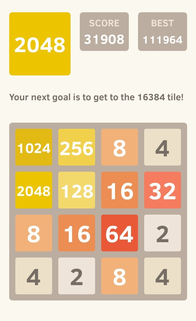 How to Win 2048 Every Single Time – Tenor Dad