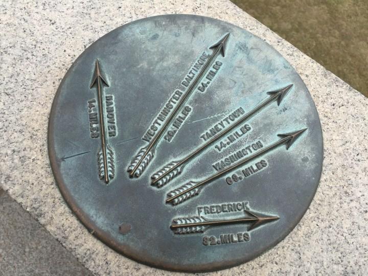 Gettysburg Distance Marker