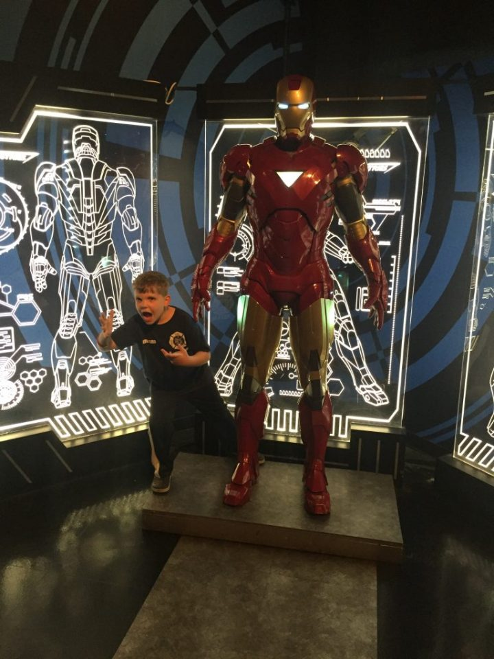 Edward and Wax Iron Man