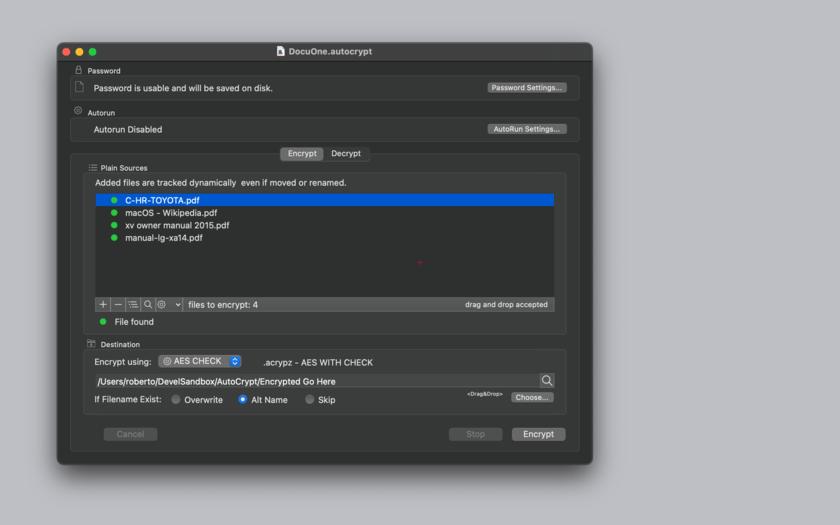 AutoCrypt for Mac 2.4.2 破解版 文档加密与解密软件