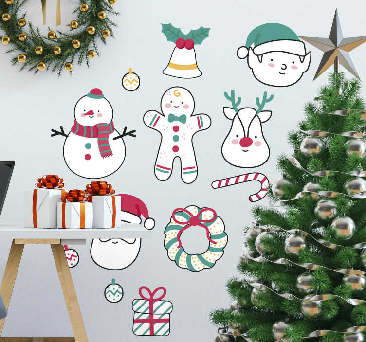 Christmas Elements Sticker TenStickers