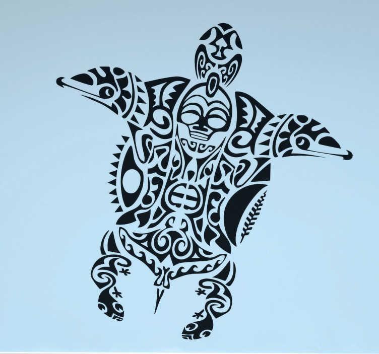 Maori Turtle Wall Sticker TenStickers