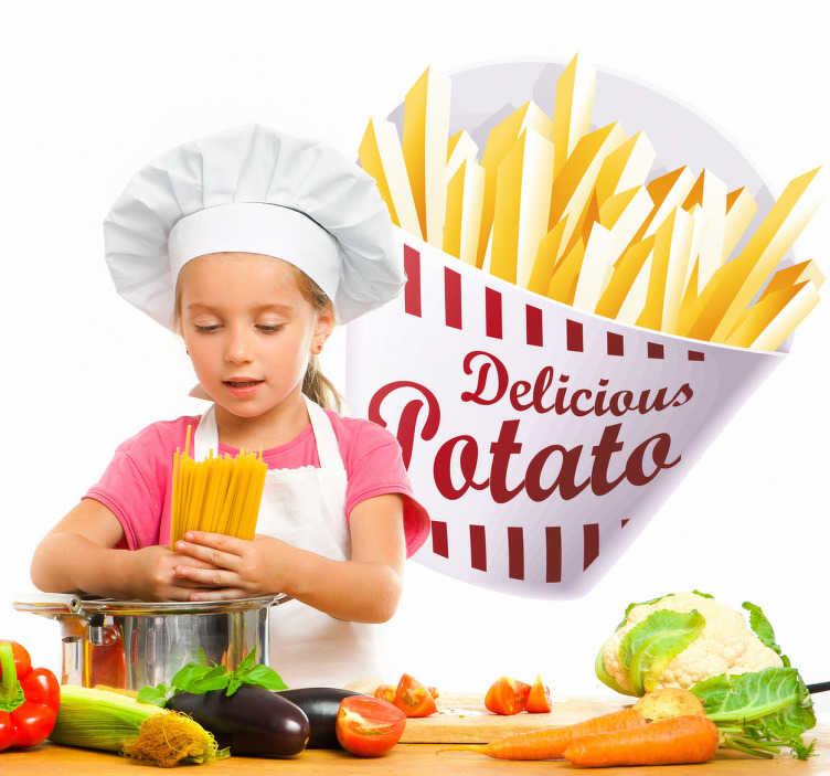 Sticker Cuisine Cornet De Frites TenStickers