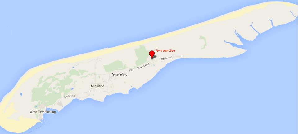 locatie tent aan zee
