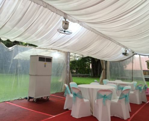 PVC chairs with cover and ribbon