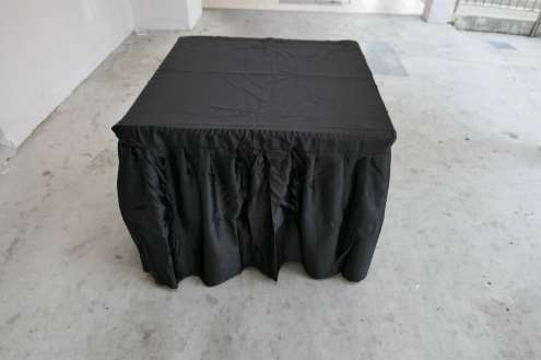 Black table cloth for square table