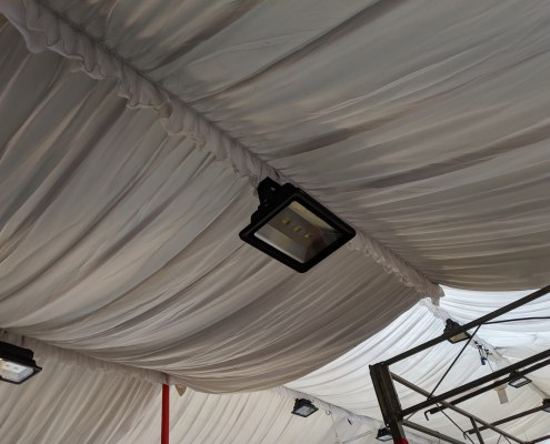 spotlight for tentage with inner lining 200w