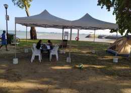 portable tent at east coast park