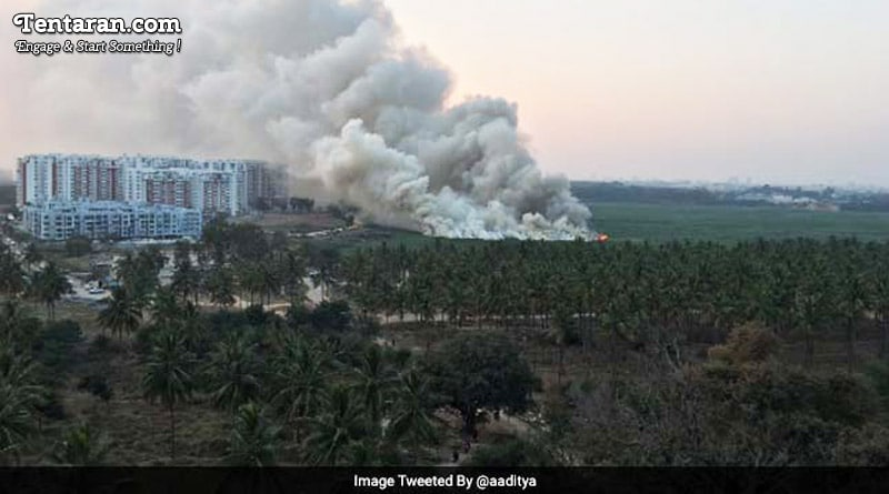 Bengaluru's Bellandur Lake on fire