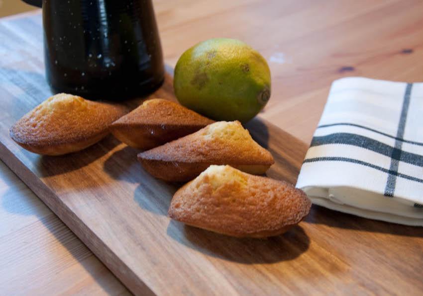 Madeleines vanille citron