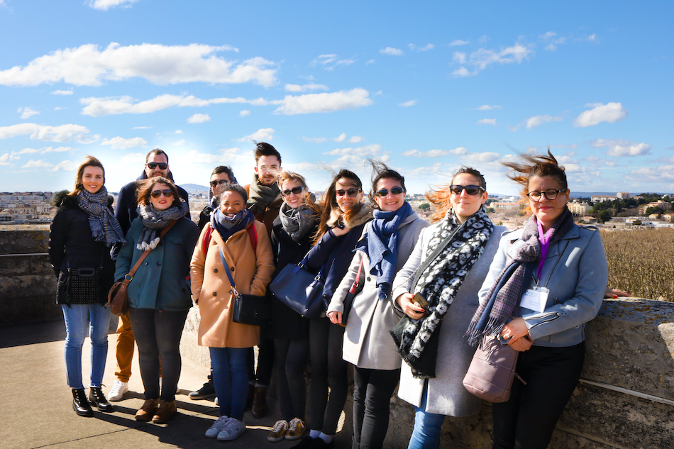 Les membres de la TeamblogMtp au sommet de l'arc de triomphe