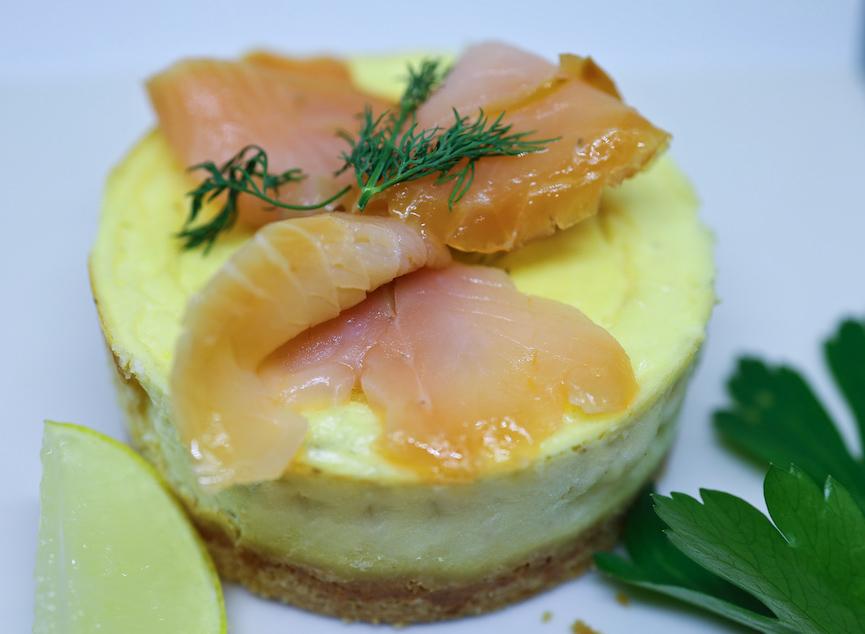 Le cheese cake au saumon fumé individuel