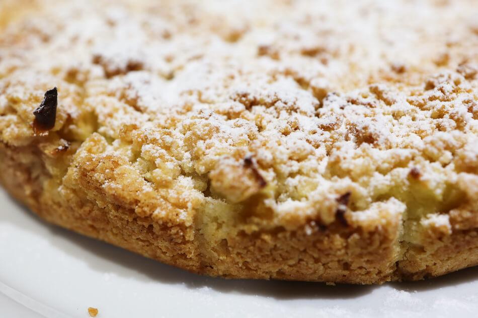 Le croustillant de la tarte pomme vanille