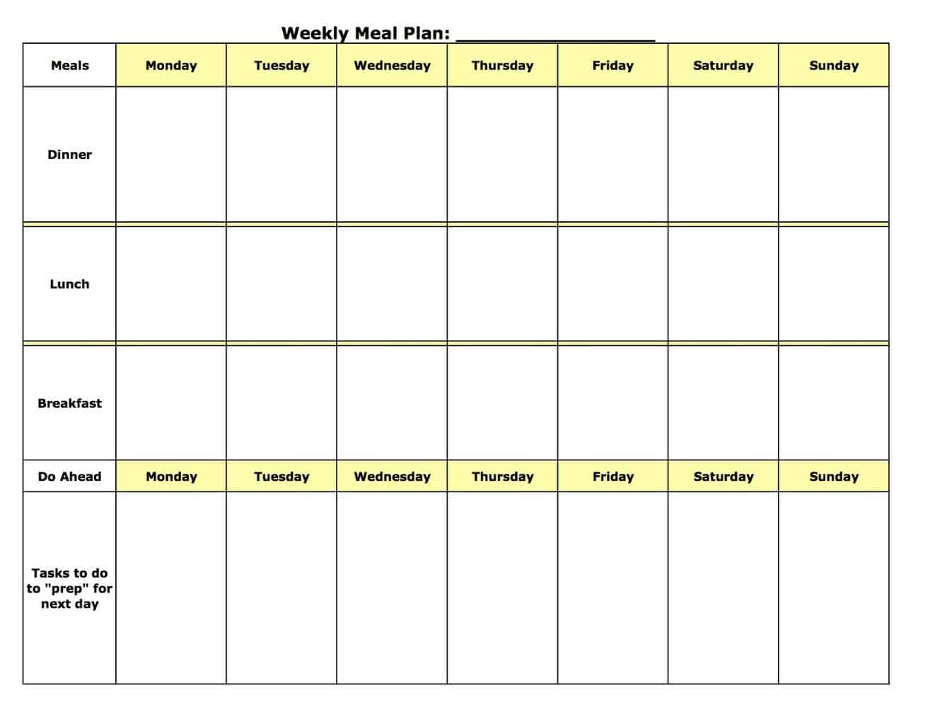 Food Planner Template. Free Nonprofit Business Plan Template Best ...