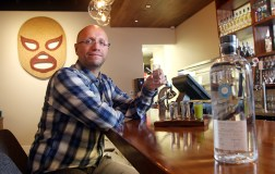 MARIO BARTEL Alejandro Diaz samples one of the dozens of tequilas he's featuring at his new restaurant, El Santo. Some of them are unique finds in the Lower Mainland and he's hoping to educate patrons to the Mexican cocktails many variations.