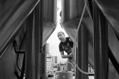 Photo by Mario Bartel Steel & Oak has seven beer tanks that can hold a total of 270,000 litres of beer.