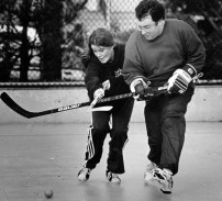 Women have never been exclused from Sunday Morning Road Hockey.