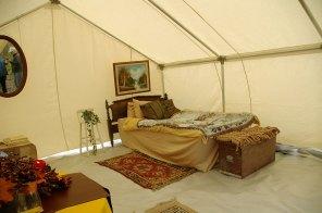 internal frame glamping tent
