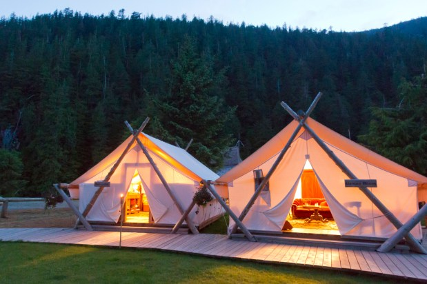 Clayoquot Wilderness Resort Lounge Tents