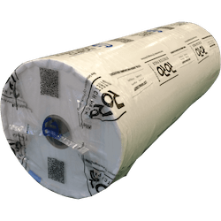 "Horizontal stretch packaging item 3 - Large roll ""eye to wall"" textile material"