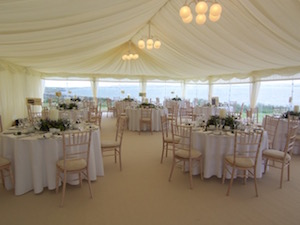 marquee lighting for hire tents and