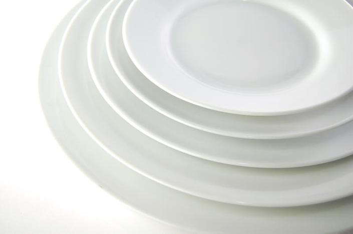 table setting rentals- White China