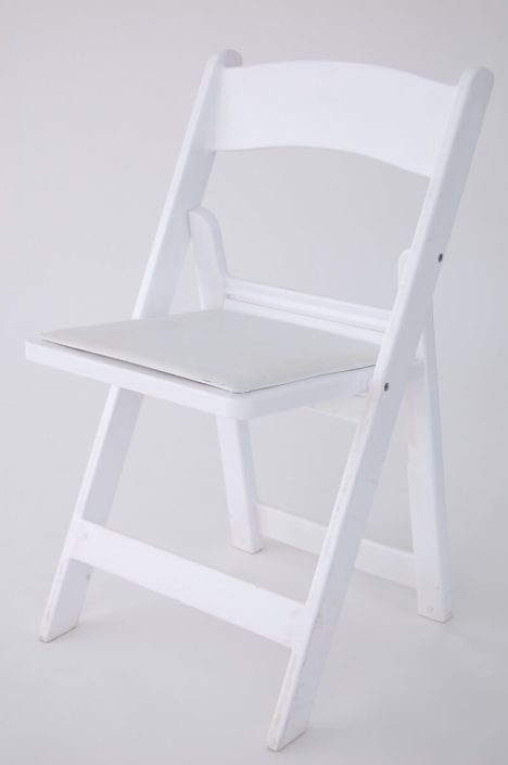 Wedding Chair Rentals- White Padded Folding Chair