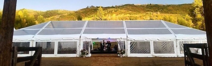 Wedding Tent Rentals- Clear NaviTrac Tent
