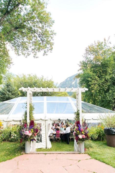 wedding rentals-Clear NaviTrac Tent