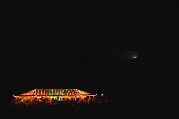 Clear NaviTrac Wedding Tent At Night