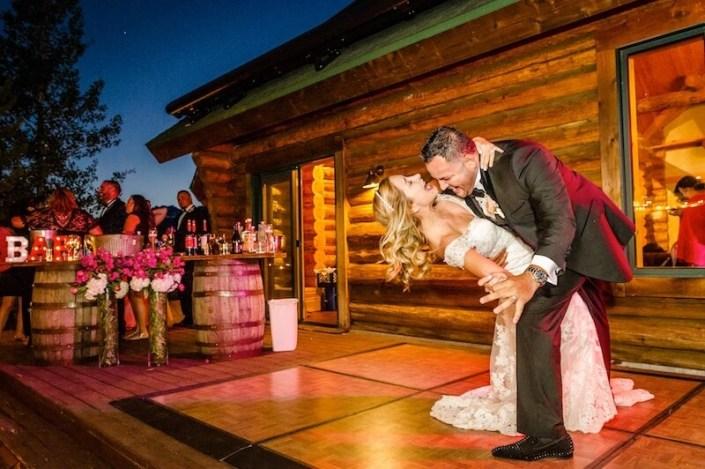 Parquet Dance Floor & Whiskey Barrel Bar