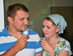 Yevgeny and wife Alina