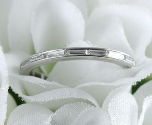 Diamond Baguette Eternity Wedding Ring