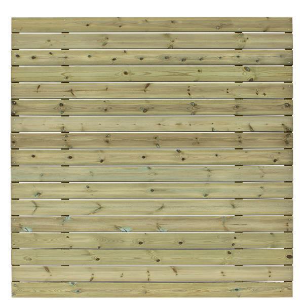 basic b brise vue avec lames large en horizontal ou vertical 177x177cm