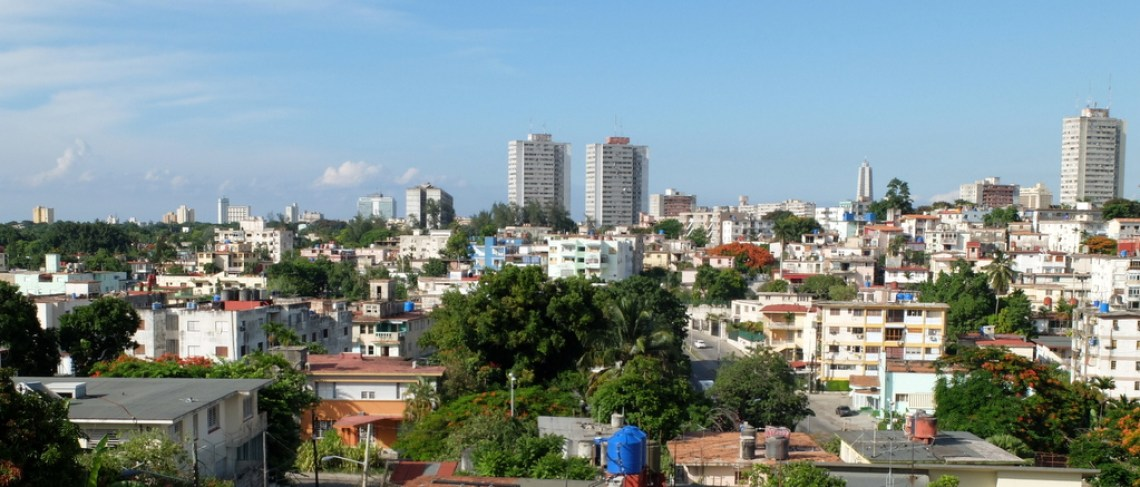 View of part of the town of Havana