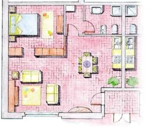 esempio di planimetria appartamenti monolocali