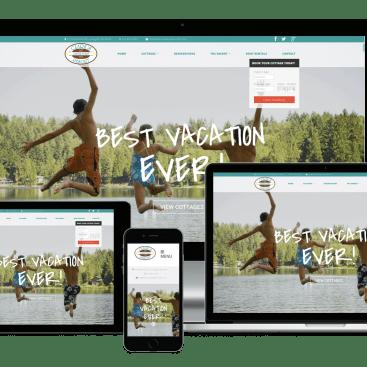 Responsive Showcase Clark's Castle Point Resort Website