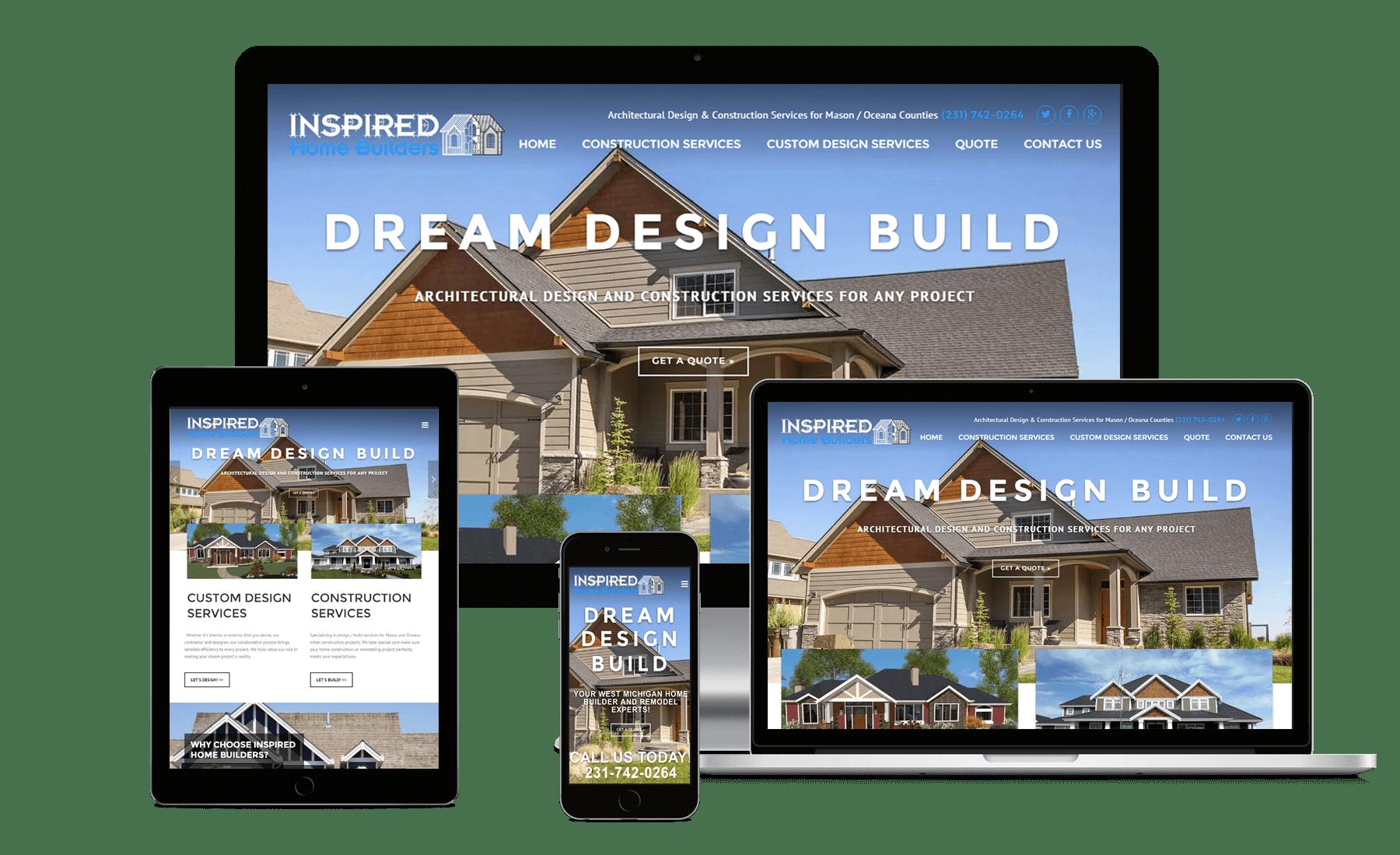 Responsive Showcase Inspired Home Builders Website
