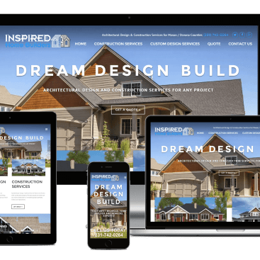 Responsive Showcase Inspired Home Builders Website