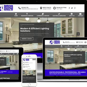 Responsive Showcase Anderson Electrical Services Website