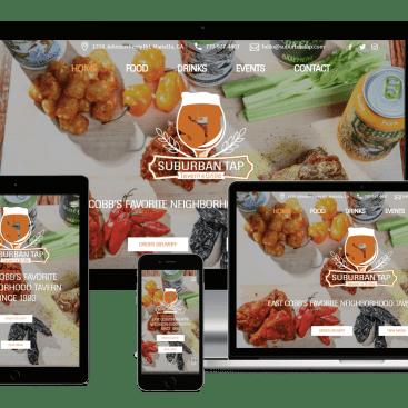 Responsive Showcase Suburban Tap Website