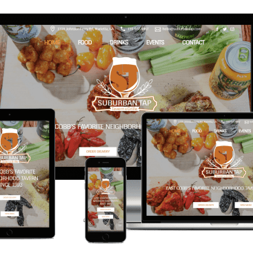 Responsive Showcase Suburban Tap Website