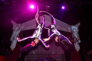 BROOKLYN, NY - MARCH 27: Aerial performers perform during I.R.Love presented by Espolon at House Of Yes on March 27, 2018 in Brooklyn, New York. (Photo by Bryan Bedder/Getty Images for Espolon)