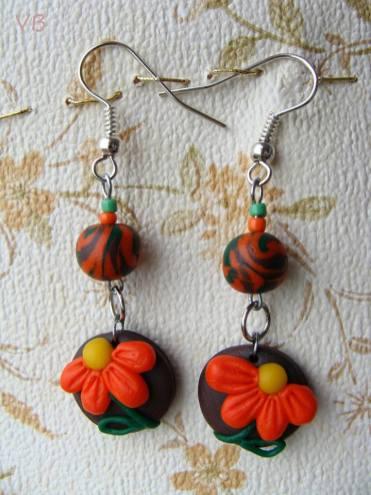 Veronica Barbu handmade cercei flori