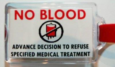 Transfusiones de sangre y los Testigos de Jehová