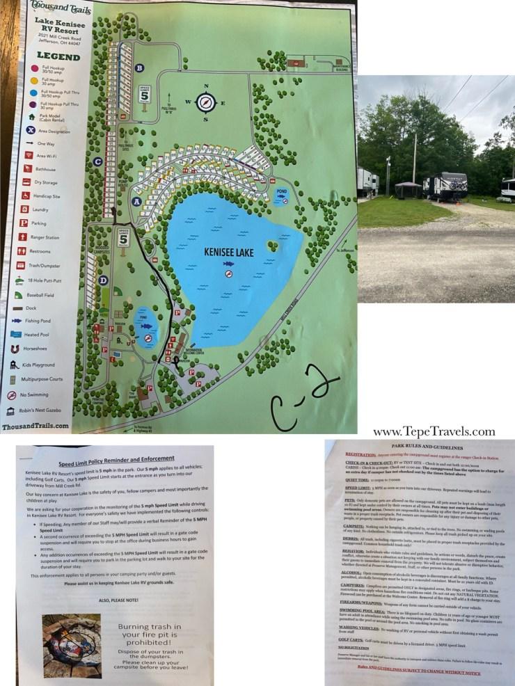 Kenisee Lake RV Resort Map